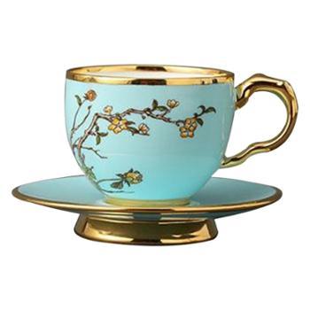 夫人瓷西湖蓝咖啡杯