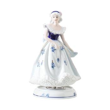 金和汇景白雪公主陶瓷蕾丝八音盒音乐盒童话人物造型