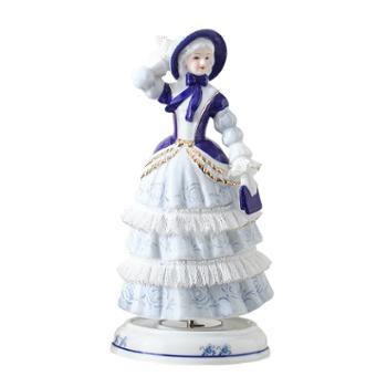 金和汇景简爱陶瓷蕾丝八音盒音乐盒童话人物造型