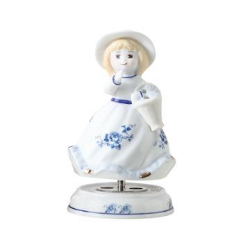 金和汇景黛西陶瓷蕾丝八音盒音乐盒童话人物造型