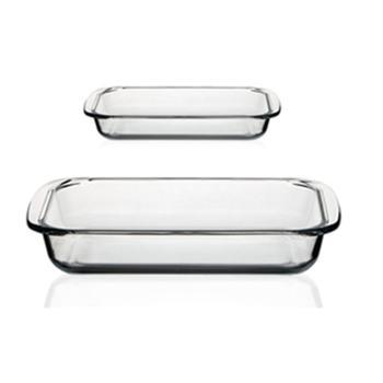海畅耐高温玻璃双耳烤盘厨房用具两件套