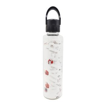 海畅耐高温高硼硅玻璃运动水壶便携式水壶