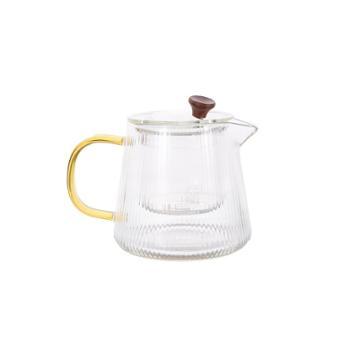 海畅日式耐高温玻璃茶壶条纹泡茶壶小号500ml