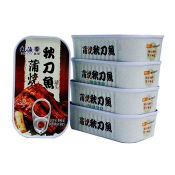 辽渔远洋蒲烧秋刀鱼6盒组合100g*6