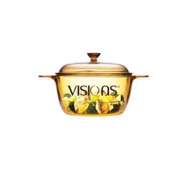 康宁VISIONS 晶彩晶钻透明玻璃锅1.5L VS-1 5
