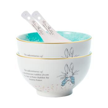 比得兔(Peter Rabbit)浪花系列-4.5寸碗2碗2勺PR-T1353
