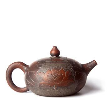 壶福源 钦州坭兴陶茶壶 鱼嬉