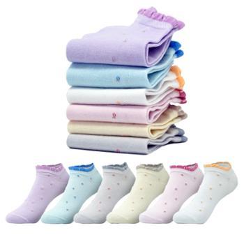 恒源祥/HYX女士纯棉船袜薄款六双装9015、3181、3821-3多色可选