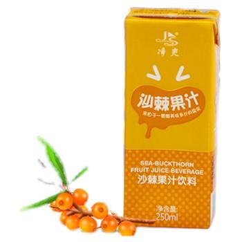 净爽山西特产沙棘果汁饮料250ml*21盒