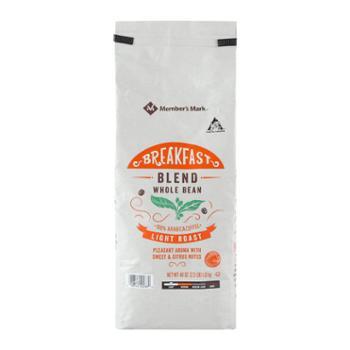 Member'sMark哥伦比亚进口早餐烘培咖啡豆1.13kg