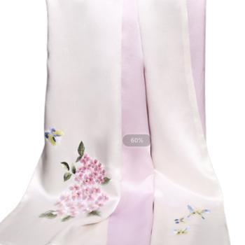 丝语棠重磅真丝素绉缎-花卉系列