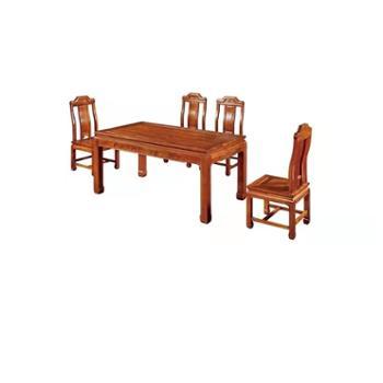 久鼎鸿福蜀台红香椿餐台餐椅(6)