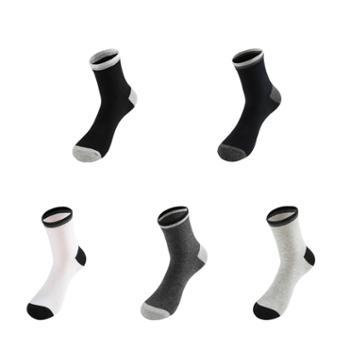 Asrla 时尚休闲中筒袜子 棉袜 均码 混色5双装 AMZ108H