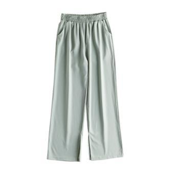 KPUWARM冰丝开衩阔腿西装裤直筒休闲女裤3色可选ZJWJ-9673