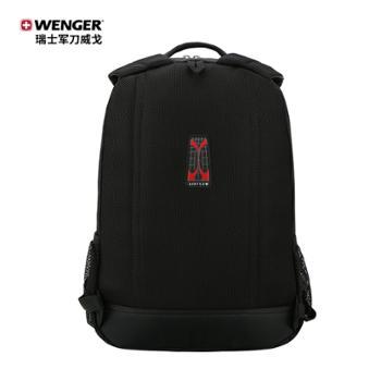 瑞士军刀威戈(Wenger)14.4英寸男式黑色双肩包